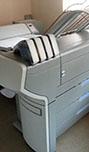 цветная печать чертежей с автоматической фальцовкой и вклейкой ярлыков на инженерном комплексе OCE ColorWave 650 + Es-Te 4311